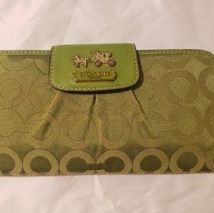 Coach Signature Large Wallet w/ Check Cover